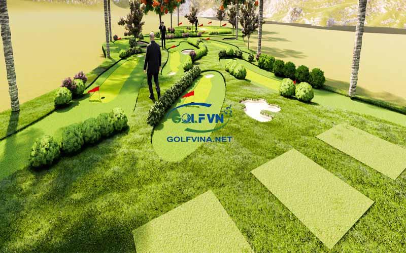 thiết kế sân tập golf mini