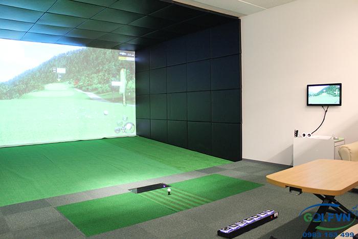 Thiết  kế phòng tập golf 3d
