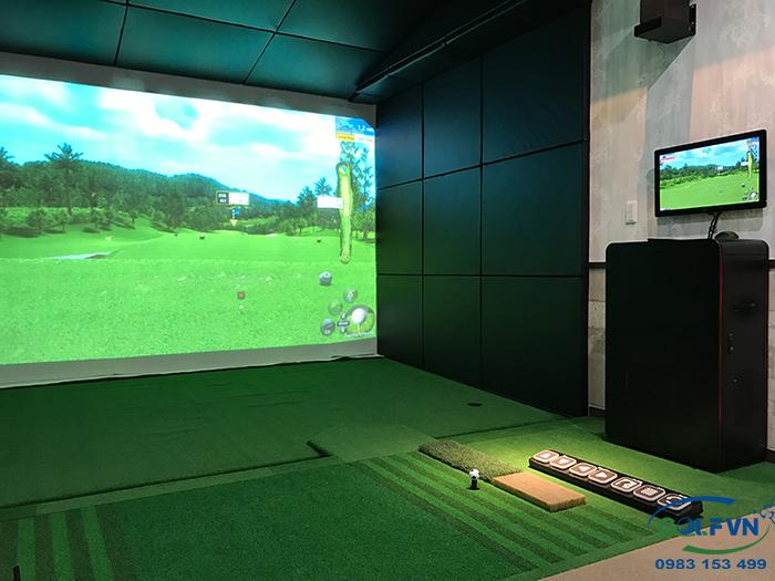 Thi công phòng tập golf 3d