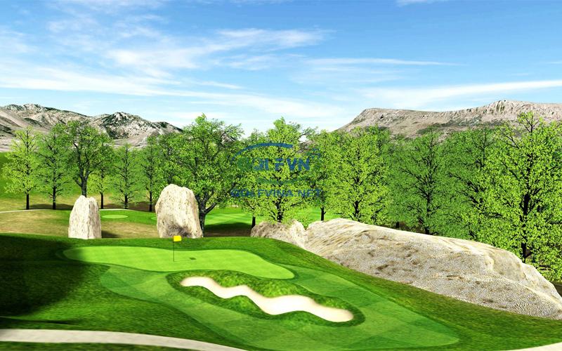 thi công sân golf 9 lỗ
