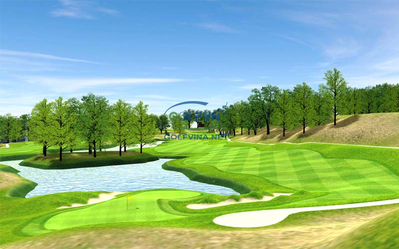 thiết kế sân golf 18 lỗ
